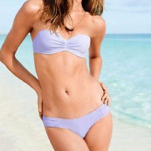 c4bc12a72942 Victoria's Secret Swim - Victoria's Secret purple braid bandeau bikini top